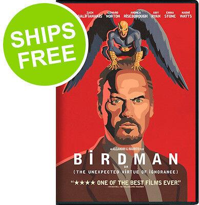 Birdman (DVD, 2015) NEW, Sealed, Michael Keaton, Zach Galifianakis, Norton