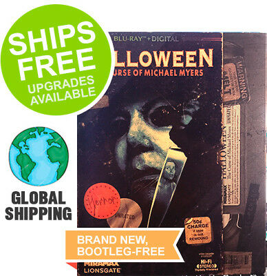 Halloween 6 Curse of Michael Myers (Blu-ray + Digital) NEW, VHS Rental Slipcover (Halloween Curses)
