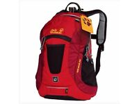 JACK WOLFSKIN MOAB JAM KIDS RUCKSACK IN RED / 10 litres / SUIT 6 YEARS+