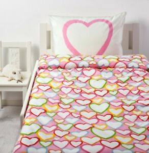IKEA Hearts Duvet Cover and Pillowcase