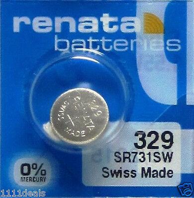 Renata Watch Electronic 329 Silver Oxide Battery 5 Pcs