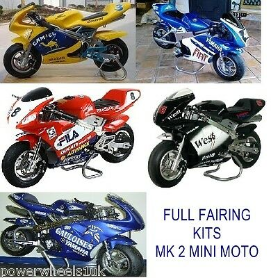 MINIMOTO FAIRINGS PLASTICS SET FOR 49CC MK2 2 STROKE MINI MOTO