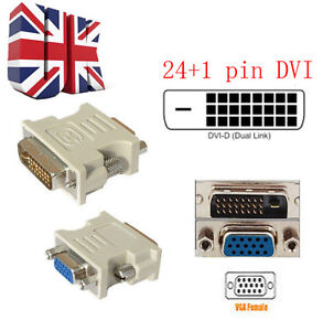DVI-D-DVI-MALE-24-1PIN-TO-VGA-FEMALE-SVGA-15PIN-VIDEO-MONITOR-ADAPTER-CONVERTER