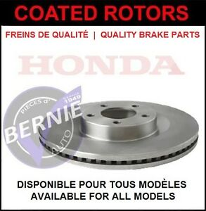 COATED ROTORS HONDA CIVIC CRX DEL SOL DISQUES LOW PRICE