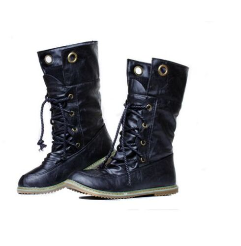 d23a794a81a Details about Women's Motorcycle Punk Martin Boots Ankle Boots Autumn  Winter Snow Shoes
