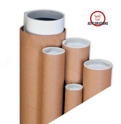 2 X 24 Premium Kraft Cardboard Shipping Mailing Tubes -10 Tubes