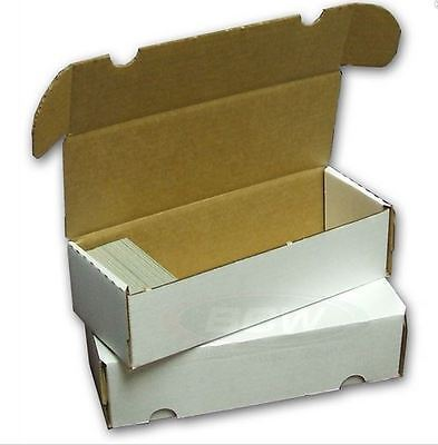 550 Count Cardboard Card Storage Box - Holds 490 Standard / 800 Gaming Cards - 800 Count Storage Box