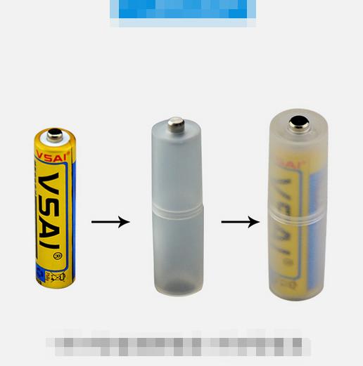 2 ST AAA zu AA Batteriezelle Konverter Adapter Zylindrischen Halter Beste