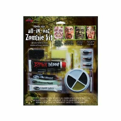 Zombie All in One Makeup Kits - Zombie Halloween Fancy Dress Accessories  (Girl Halloween Vampire Makeup)