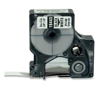 Dymo Rhino 9mm Permanent Vinyl Industrial Tape 38 Blkwhite 18443 Compatible