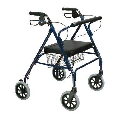 Rollator Walker Heavy Duty Bariatric Large Padded Seat Aluminum Home 4 Wheel ()