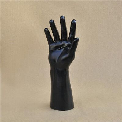 New Men Mannequin Hand Wrist Ring Watch Display Base Male Gloves Model Black