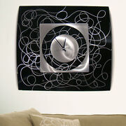 Abstract Metal Wall Art Clock