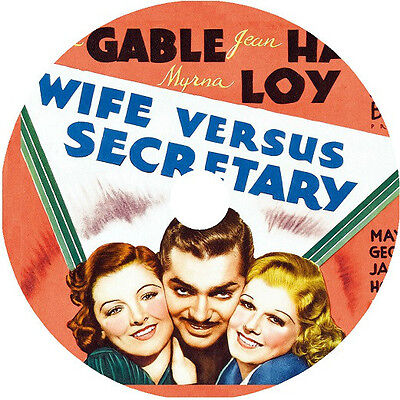 1936 Clark Gable (Wife vs. Secretary DVD Clark Gable Jean Harlow Myrna Loy Rare1936)