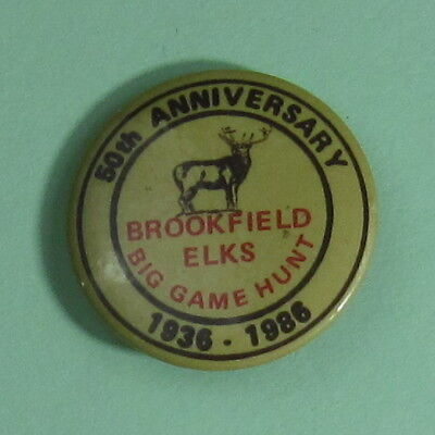 1986 Truro Nova Scotia Canada Brookfield Elks Hunt Club Hunting Pinback Button
