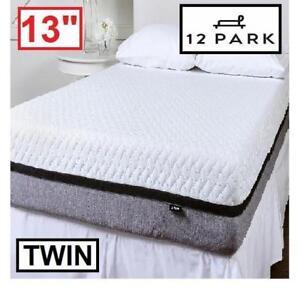 "NEW 12 PARK 13"" MEMORY MATTRESS 654-562 139163565 TWIN SIZE SMART TEMP FOAM MATTRESSES BED BEDS BEDDING BEDROOM FURNI..."
