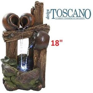 NEW LED GARDEN WATER FOUNTAIN QN164013 252880102 THE WATER URNS OF RAVELLO DECOR 28 x 24 x 45.5 cm