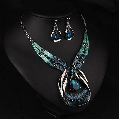 Necklace Choker Chunky Chain Statement Jewelry Bib Fashion Pendant Crystal Women