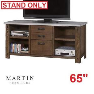 """NEW* MARTIN FURNITRE 65"""" TV STAND - 118107963 - PAXTON SPUR RUSTIC SIENNA MEDIA CONSOLE CONSOLES STANDS LIVING ROOM T..."""