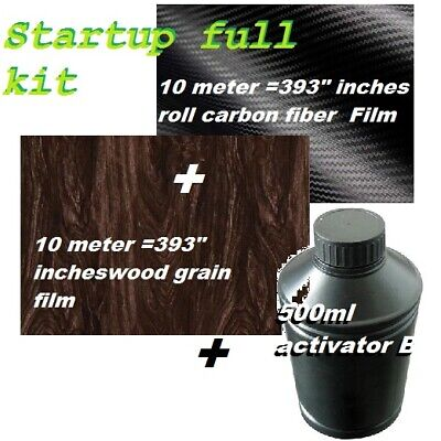 Dip Hydrographics Full Startup Kit Wood 10m Carbon Fiber 10m Activator B 500ml