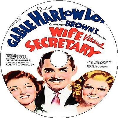 1936 Clark Gable (Wife vs. Secretary _ Clark Gable Jean Harlow Myrna Loy - V rare 1936)