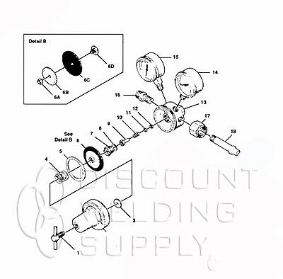 Repair Kit Wdiaphragm-victor Turbotorch 250-80-540 Oxy Regulator- Avtt250-80rkd