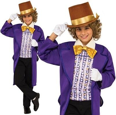 Childs Willy Wonka Fancy Dress Costume Childrens Book Day Outfit by Rubies - Willy Wonka Outfit Child