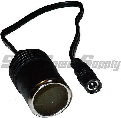 Super Power Supply® Car Cigarette Lighter Female Socket to 5.5mm x 2.1mm Adapter