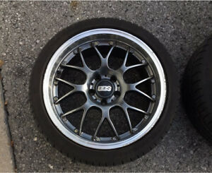 Authentic BBS 18 inch rims full set