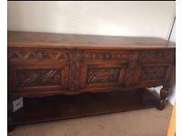 Antique serving sideboard 7ft long