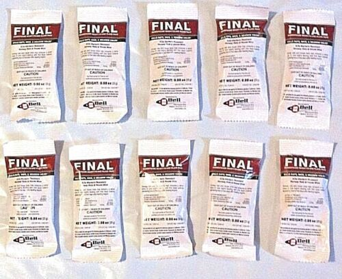 Just One Bite 10 pack Final Mice Rat Poison Rodent D Con Bait Station