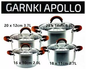 Wowmart Gift 8pcs Stainless Steel Pots Set GARNKI APOLLO South Granville Parramatta Area Preview