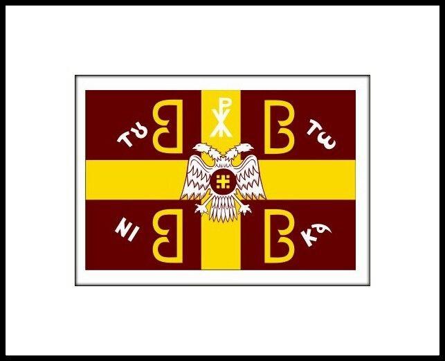 BYZANTINE 4B FLAG ( EN TOUTO NIKA ) 150cm x 100cm CHRISTIAN BYZANTINE EMPIRE