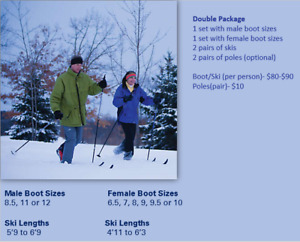 Couple Cross Country Ski Equipment Package ($170-$200)