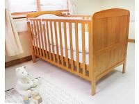 Mamas and papas solid wood cot bed, excellent condition