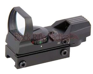Tactical 4 Reticle Red Green Dot Holo Reflex Sight For Picatinny Weaver Rail