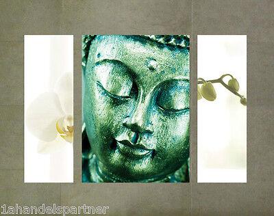 Bad Badezimmer Bild (Wellness Wandbild Buddha Orchidee Badezimmer BAD Wohn DEKO SET Wandtattoo Budda)
