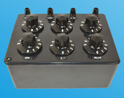 ZX21 Precision Variable Decade Resistor Resistance Box 0.1~99.9999 kΩ Testers