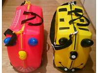 2 Trunki Ride-on Suitcases