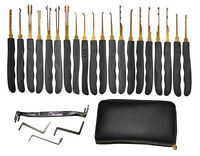 24-Piece Premium Lock Picks Set w/Dual-Zipper Case by GOSO