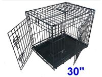 Ellie-Bo Dog Puppy Crate Cage with Non-Chew Metal Tray plus mattress
