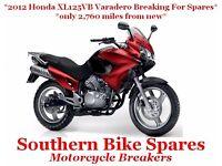 2012 Honda XL125VB Varadero (2,760 miles) *Breaking For Spares / Parts* XL125 VB XL 125 V