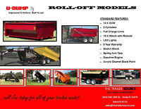Roll-off Dump Trailers and containers - Units ready to deliver