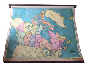 Roll-up school map of Canada