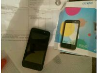 Alcatel pixi 4 mobile phone with £20 credit