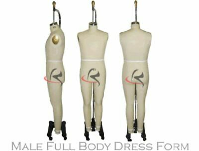 Professional Male Full Body Dress Form Arm Included - Size 40