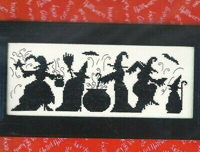 HALLOWEEN SEASON OF THE WITCHES--Silhouettes--Cat--Counted Cross Stitch KIT