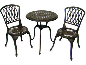 CAST IRON bistro set VERY HEAVY