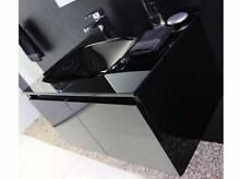 Black glass top bathroom vanity, hanging, 900mm Paddington Brisbane North West Preview