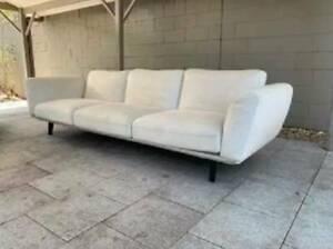 PENDING - White cream beige King Living modular designer retro lounge